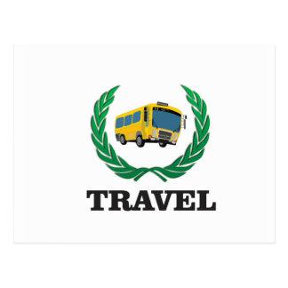 travel bus postcard