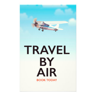 Travel By Air travel poster Stationery