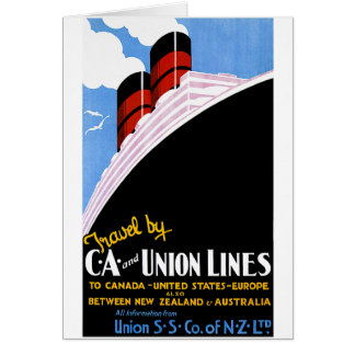 Travel by C and A and Union Lines Card