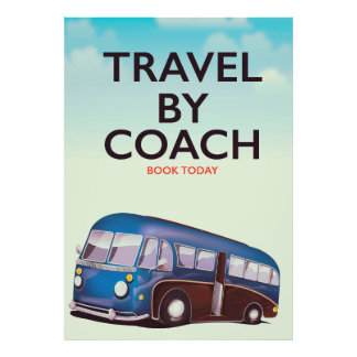 Travel By coach British travel poster
