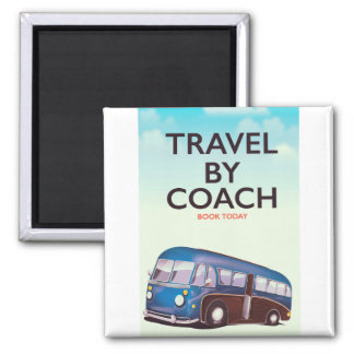 Travel By coach British travel poster Magnet