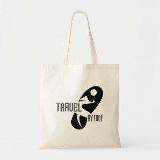 travel by foot tote bag
