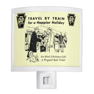 Travel By Train-Pennsylvania Railroad Night Light