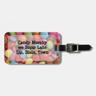 travel candy luggage tag