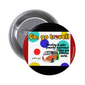 Travel Car Designed 2 Inch Round Button
