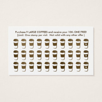 travel coffee cup stamp card