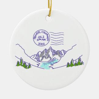 Travel Colorado Ceramic Ornament