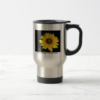 Travel/commuter mug - Striking Sunflower