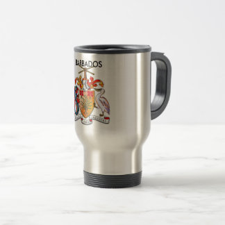 Travel/Commuter Mug with the Barbados Coat Of Arms