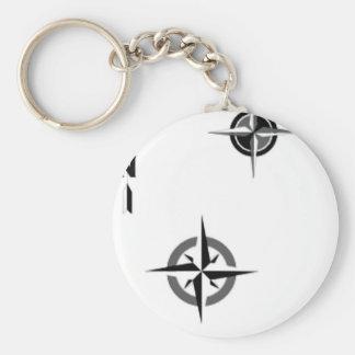 Travel Compass & Map Symbols Keychain