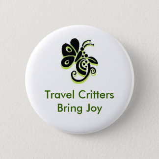 Travel Critters Bring Joy 2 Inch Round Button