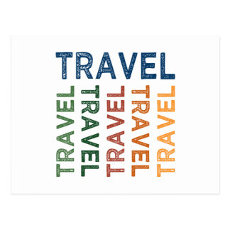 Travel Cute Colorful Postcard
