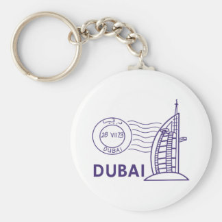 TRAVEL DUBAI BASIC ROUND BUTTON KEYCHAIN