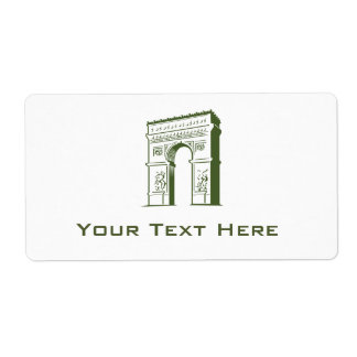 Travel Europe Arch Shipping Label
