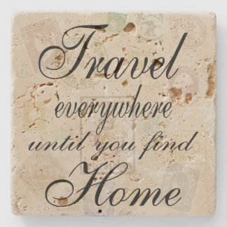 Travel Everywhere stone tile Stone Coaster