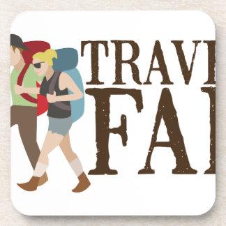 Travel Far Drink Coasters