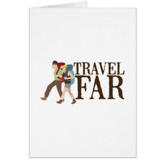 Travel Far Greeting Card