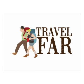 Travel Far Postcard