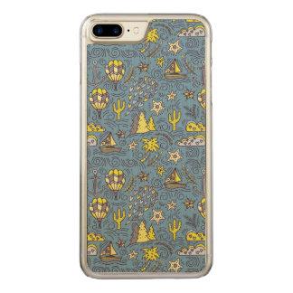 Travel Fun Carved iPhone 8 Plus/7 Plus Case
