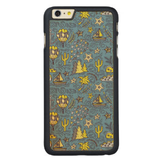 Travel Fun Carved Maple iPhone 6 Plus Case