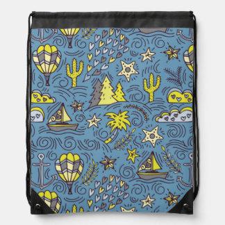Travel Fun Drawstring Bag