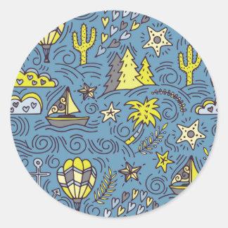 Travel Fun Round Sticker