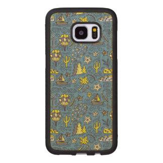 Travel Fun Wood Samsung Galaxy S7 Edge Case