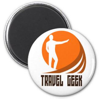 travel geek 2 inch round magnet
