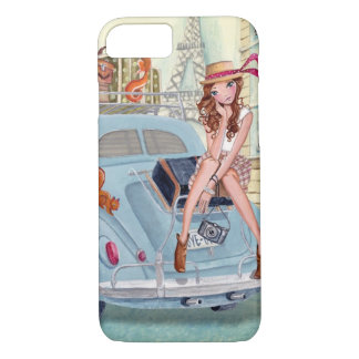 Travel girl in Paris | Iphone 7 case