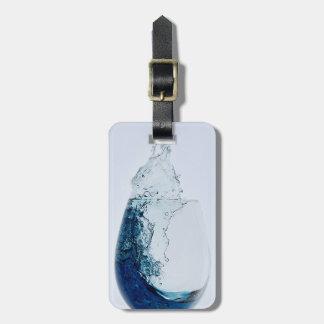 Travel Glass of Blue Liquor Luggage Tag