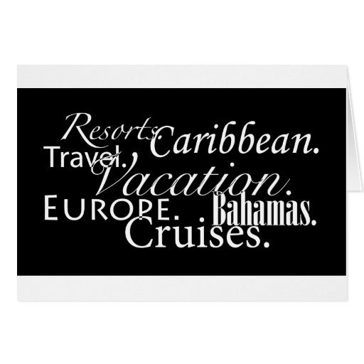 Travel in Blk/Wht-Notecard Stationery Note Card