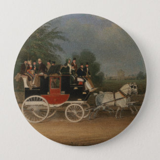 Travel in England, 1835. 4 Inch Round Button