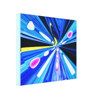 Travel in outer space canvas print