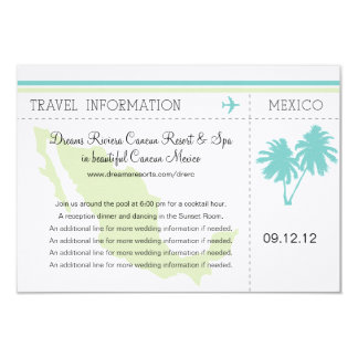 Travel Information Boarding Pass TO MEXICO Card
