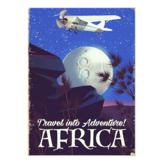 Travel Into Adventure! Africa Photo Print
