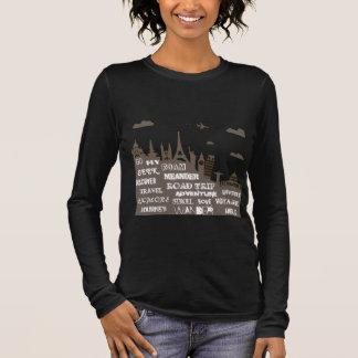 Travel is a verb long sleeve T-Shirt