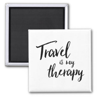 Travel is my Therapy Magnet