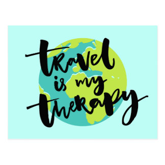 Travel is my Therapy Postcard