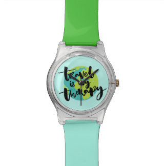 Travel is my Therapy Wrist Watch
