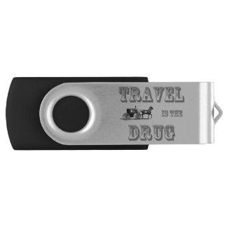 Travel is the drug USB drive Swivel USB 3.0 Flash Drive