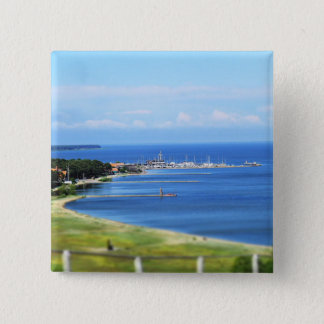 Travel Lithuania - Nida 2 Inch Square Button