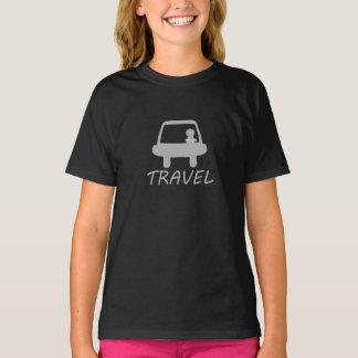 TRAVEL LOVE BLACK T-SHIRT