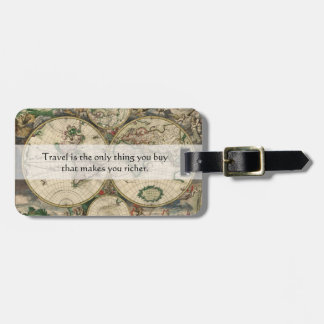 Travel Makes You Richer Quote - Customizable Bag Tag