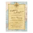 Travel Map Birthday Celebration Invitation