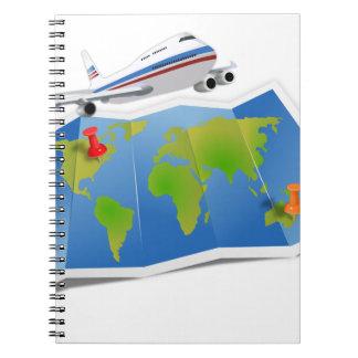 Travel Map Spiral Notebook