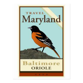 Travel Maryland Postcard