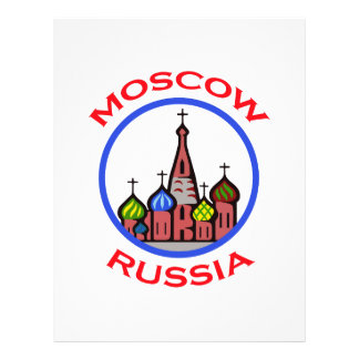 TRAVEL MOSCOW RUSSIA PERSONALIZED LETTERHEAD