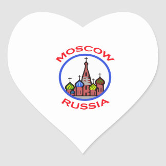 TRAVEL MOSCOW RUSSIA HEART STICKER