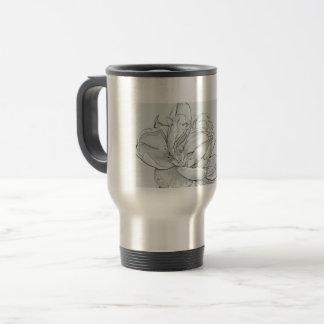 Travel mug 15oz stainless steel image open rose