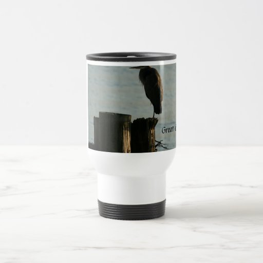 Travel Mug:  Great Blue Heron